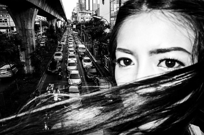 Bangkok Thailand Streetphotography Yoonjeongvin Young Women Portrait Beautiful Woman Looking At Camera Headshot Close-up Eyelash Vision The Street Photographer - 2018 EyeEm Awards