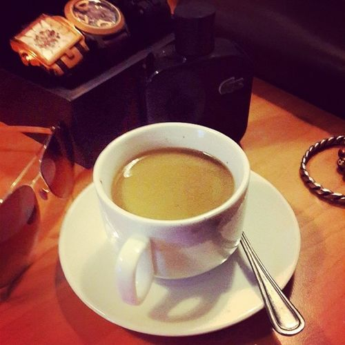A perfect vacatinon wouldn't be perfect without a cup of white coffee..