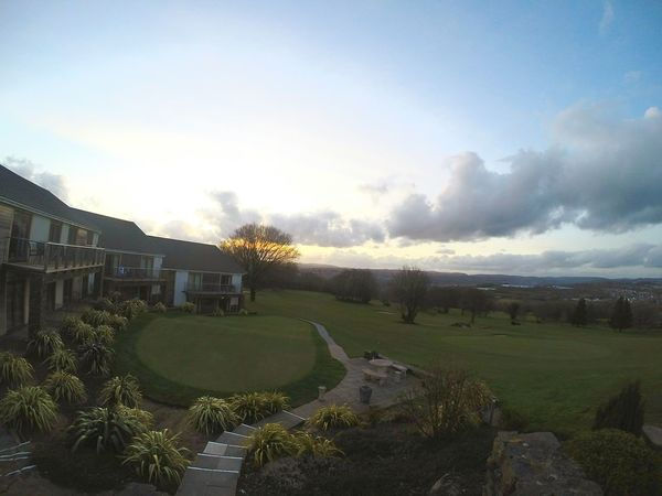 Stunning_shots Captivating Beautiful Amazing View View From My Point Of View Photographer Golfcourse Golfing Wales Wales You Beauty Welsh The Valley Cymru Sky Sky And Clouds Skyporn Trees Green Sky_collection Tree_collection  Golden Clouds And Sky Golf Landscapes With WhiteWall