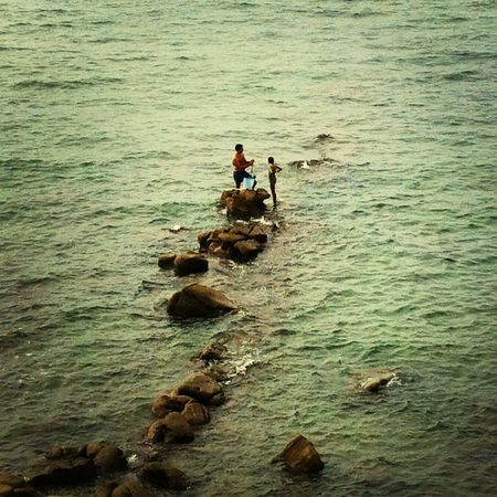 Sea View Fisher Man Father & Son in Castellabate - Cilento - Southern Italy The Environmentalist – 2014 EyeEm Awards Two Is Better Than One