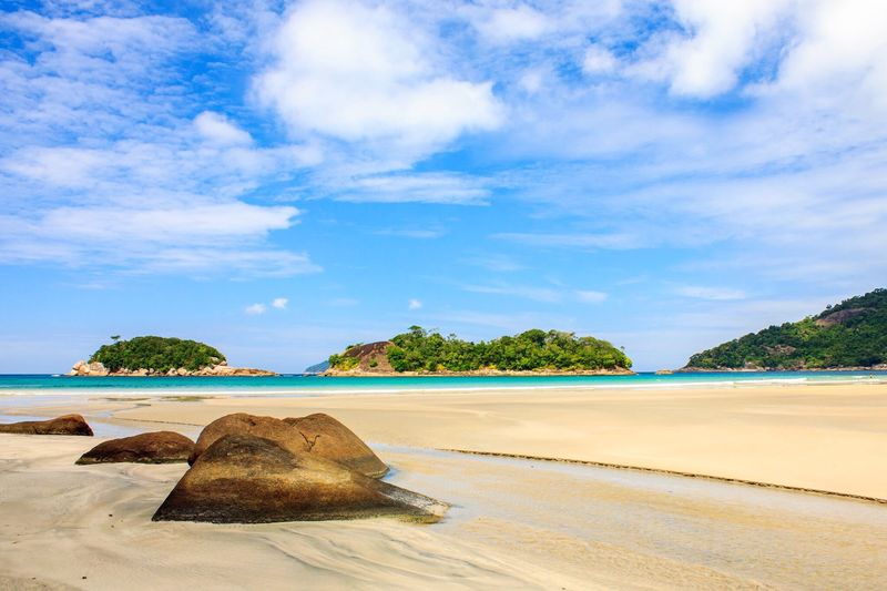 Sea Beach Sky Scenics Water Nature Tranquil Scene Sand Tranquility Beauty In Nature Shore Cloud - Sky Horizon Over Water Idyllic No People Outdoors Day Tree Ilha Grande Brazil Paradise Beach Paradise Savetheplanet Consciousness