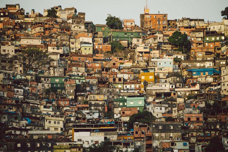 View of favela rocinha against sky