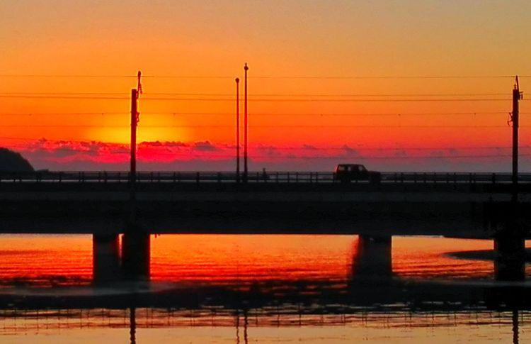 初日の出 Nature Landscape Beauty In Nature No People Water Sea Sun Orange Color KYUSHU