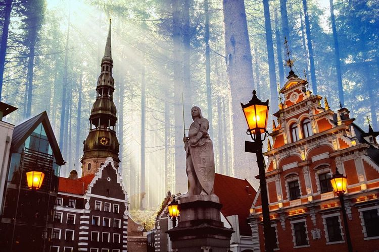 Fantasy City Forest Cloudy Riga Scifi Check This Out Enlight Fine Art Photography