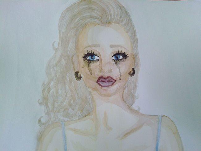 Aquarelle Sadness Art