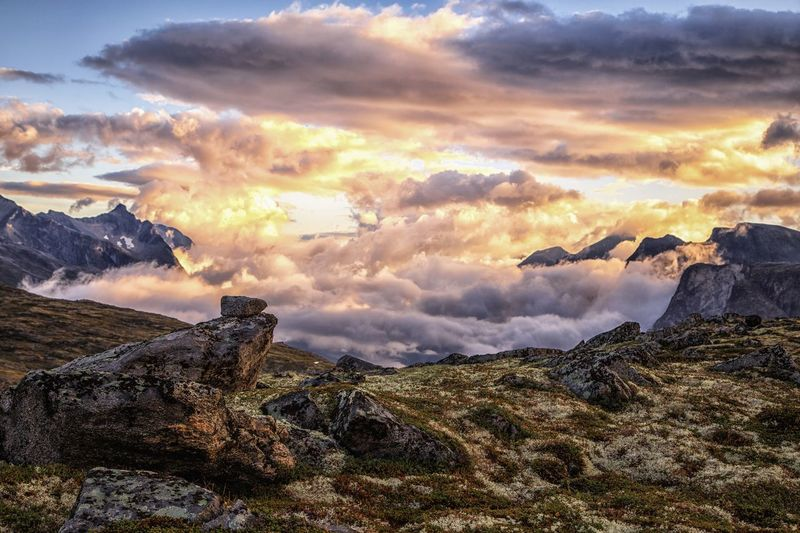 Mountain Peak Mountain Norway🇳🇴 Dramatic Sky Landscape Nature_collection Nature Norway Cloud - Sky Sky Beauty In Nature Sunset Nature Tranquility Tranquil Scene Scenics - Nature No People Landscape Idyllic Land Outdoors Mountain Dramatic Sky