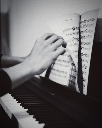 Page Human Hand Hand Piano Indoors  Musical Instrument Music Piano Key Close-up Playing