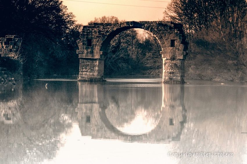 Pont d'Ambrussum Epoque Gallo-romaine Water Reflections Landscape_Collection Art Is Portable With Caseable Reflection
