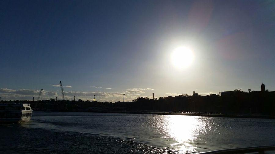 Winter sun on the harbour