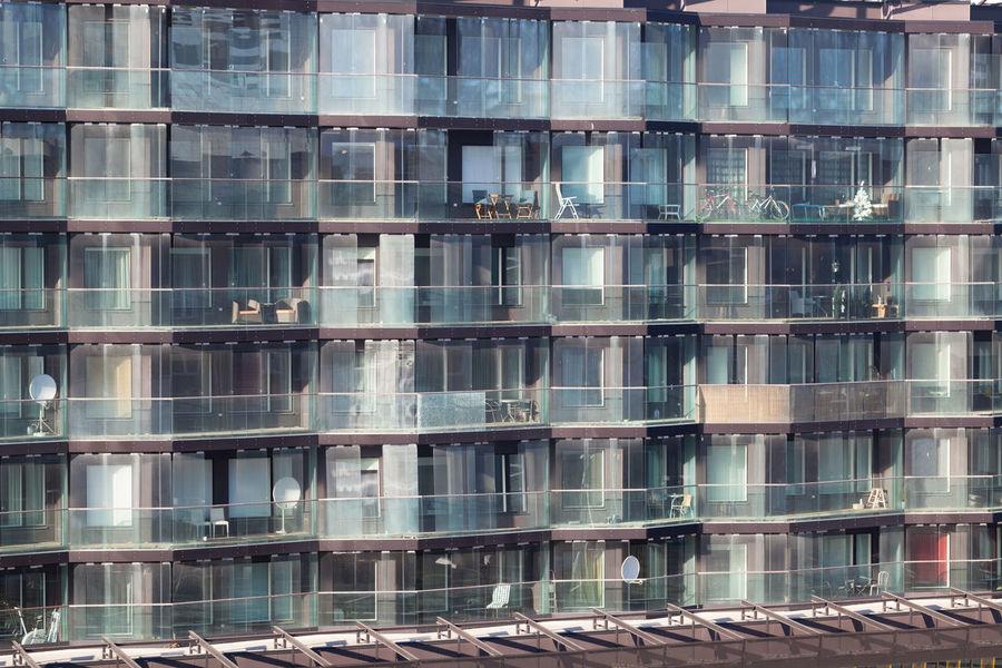Apartment Architecture Balcony Block Building Exterior Façade Glass High-Rise House Modern Multistorey Multistory Window