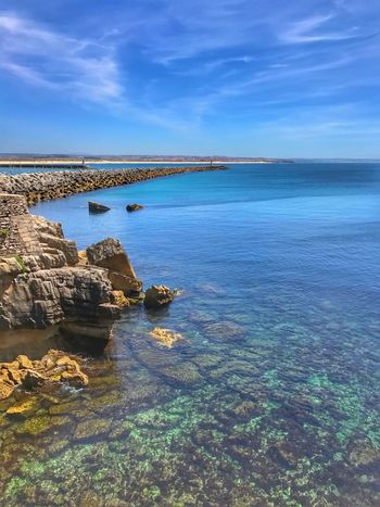 Water Beauty In Nature Rock - Object Tranquil Scene Scenics Sea Nature Sky Tranquility Outdoors Day No People Cloud - Sky Horizon Over Water Blue Fortress Travel Destinations Nature Lighthouse Tranquility