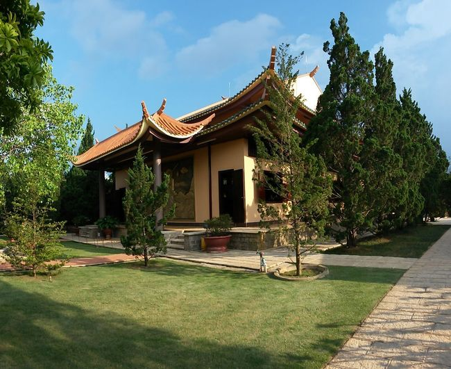 Da Lat City South East Asia Vietnam Architecture Belief Building Building Exterior Built Structure Courtyard  Day Grass Green Color Growth House Luxury Nature No People Outdoors Place Of Worship Plant Religion Sky Sunlight Tree