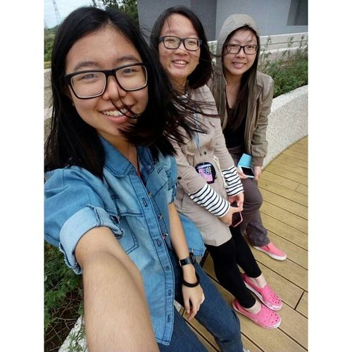 Smile with the Autumn Wind with my two lovely schoolmates. Throwback School Compound Photoshot Schoolmates