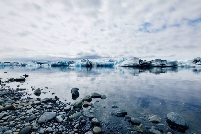 •serene• Idyllic Beauty In Nature Landscape Clouds And Sky Clouds Calm Water Nature EyeEm Nature Lover Blue Roadtrip Iceland Iceland_collection Jökulsárlón Glacier Lagoon Glacier Ice Exceptional Photographs Tadaa Community