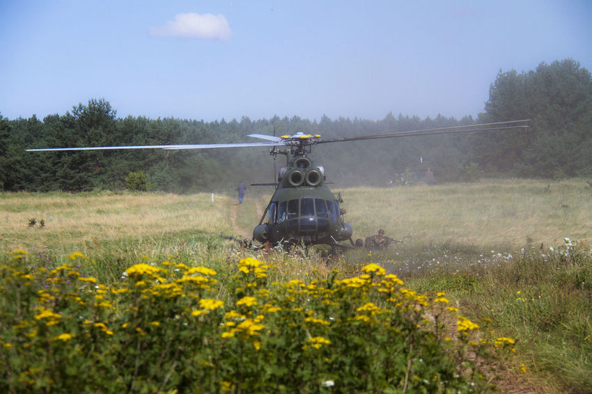 Army Army Soldier Flower Helicopter Landing Troops Military Military Exercise NATO Outdoors Soldiers Troops Weapon Yellow