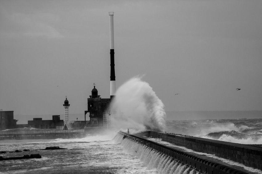 Digues Le Havre Port - Sea Sky Storm Tempête Water Waves, Ocean, Nature