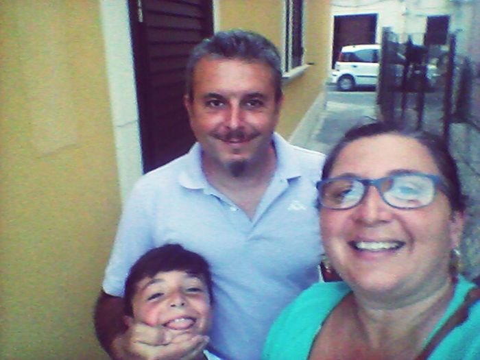 Up And down around Brucoli, a little town near the sea....what else? In this Pic my husband and my son ♡♡♡
