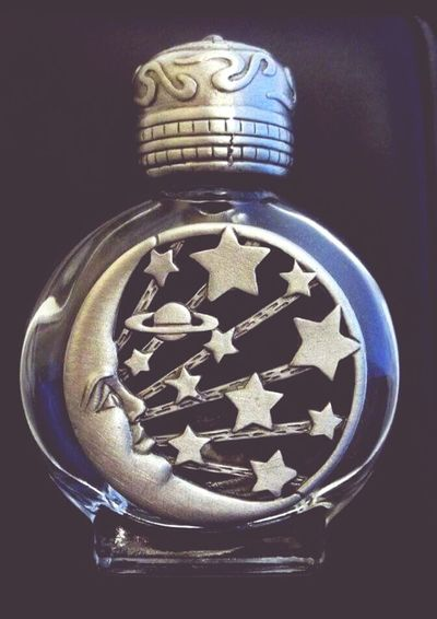 Moon and stars bottle Moon And Stars Decorative Bottle Found At Thrift Store Love Them ❤ Saturn Too Man In The Moon