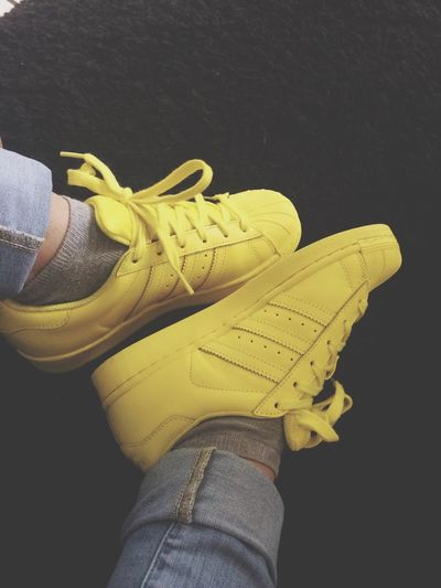 My shoes Yellow Superstar Supercolor PharellWilliams