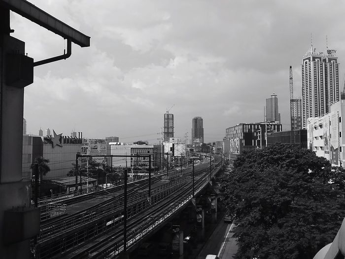 City Outdoors Day Railway Railway Station Train Station Tracks Mrt Cloud - Sky Papershoot Papershootphotography