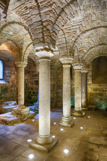 Interior of an old crypt with pillars in a church Architecture Atmosphere Chapel Church Historical Building Mystic Abbadia San Salvatore Abbazia Di San Salvatore Ancient Arch Architectural Column Cellar Crypt History In A Row Interior Italy Mystical No People Old Pillar Place Of Worship Travel Destinations Vault Vaulted Ceilings