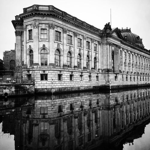 Berlin Impressions Museumsinsel History Mitte Berlin History Museum Architecture Built Structure Reflection Building Exterior Day Outdoors Architectural Column Travel Destinations Sky Water No People Clear Sky