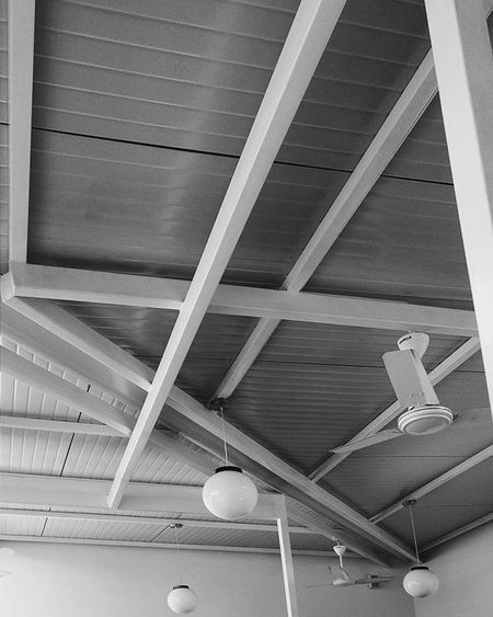 Was staring at this for a while. VSCO Vscocam Igersindia Chennai Igers Morning Minimal Monochrome MinimalPhotography Minimalart Design Art Cut Angle Abstract Geometric Ceiling Architecture