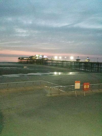 Taking Photos Hello World Blackpool North Pier Lights Sunset.