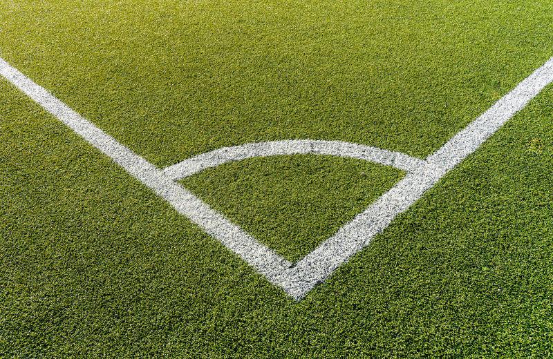 Marker on soccer field