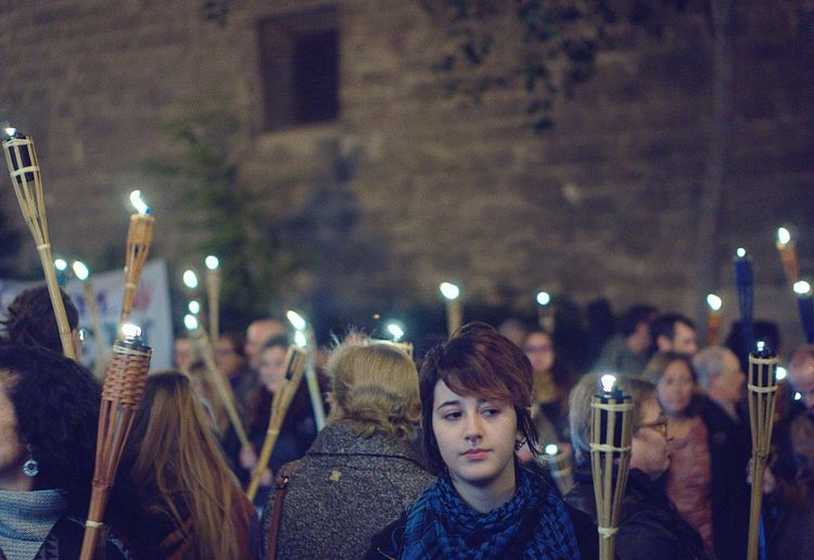 What We Revolt Against Marxa de torxes// Night torch (against domestic violence) Protest Streetphotography Nightphotography Torches Torchlight Picturing Individuality Youth Of Today Resist