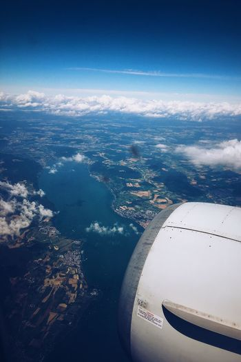 Lake of Constance Hello World Bodensee Plane OverTheClouds Lakeofconstance Outofaplane Ukrainianinternational Let's Go. Together.