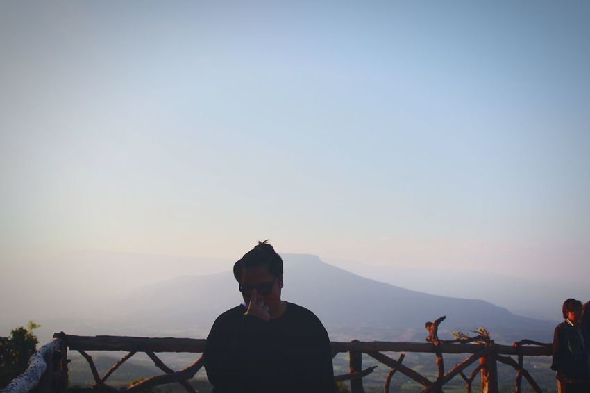 Fuji Sunset Vacations Men Sky Day One Person People Real People Loei,thailand Thailand