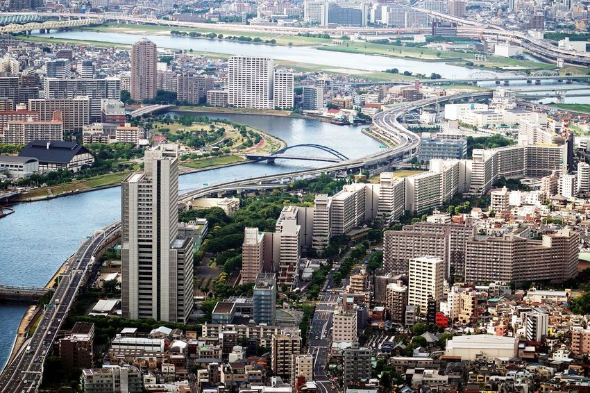 Architecture City Cityscape High Angle View Modern Skyscraper Tokyoskytree Travel Destinations Urban Skyline Colour Your Horizn