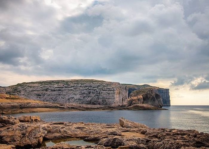 {Earth, Sky and Sea...I feel live} Earth Sky Sea Skyporn Seaporn Live Naturelover Landscape Landscapelovers Traveller Traveling Mytravel MadeInSud Nikonphotographer Nikond90 Gozo Island Maltaexperience2015 Cliff Beautifulview Beautifulcliffs