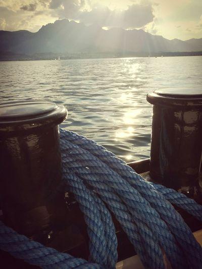 Lake of Thun, Switzerland Water Mountain Nautical Vessel Tranquility Lake Nature Outdoors