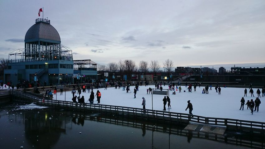 Skating rink at Terrasse Bonsecours