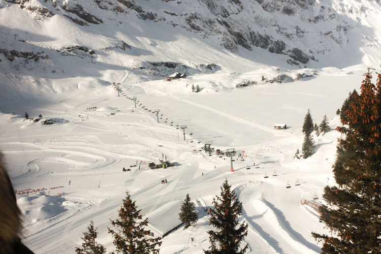 Christmas Titlis Xmas Beauty In Nature Cold Temperature Covering Engelberg Environment High Angle View Landscape Mountain Mountain Range Nature Outdoors Range Scenics - Nature Ski Resort  Skiing Snow Snowcapped Mountain Sport Tranquil Scene Tranquility White Color Winter Winter Sport