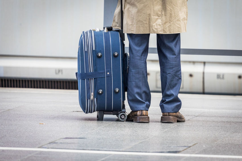 Ice Station Adult Airport Body Part Casual Clothing Human Body Part Human Leg Human Limb Indoors  Intercityexpress Jeans Journey Leaving Limb Low Section Luggage Motion on the move One Person Platform Shoe Standing Suitcase Train Transportation Travel Waiting Walking