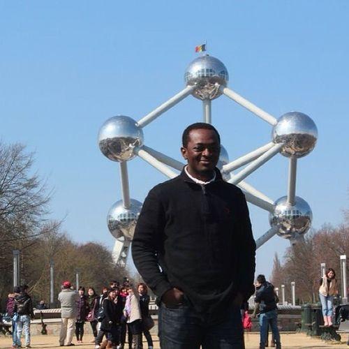 TBT  Brusselsbelgium Brussels at the Atomium Landmark