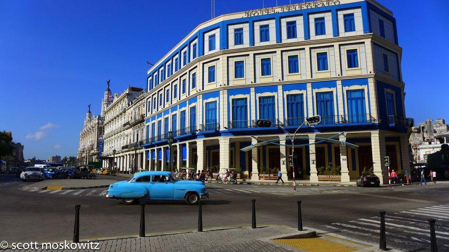 """Havana Blue"" with attribution Havana Cuba NostalgiCar NostalgiCarCuba LEICA M Leica HotelTelegrafo HarryFotoCuba"
