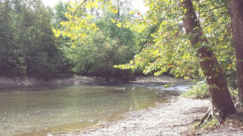 canoe ride in the fall