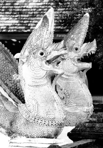 Close-up No People Indoors  Sculpture Day Dragon Sculpture Decoration Chiang Mai | Thailand