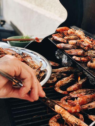 Seafood. BBQ