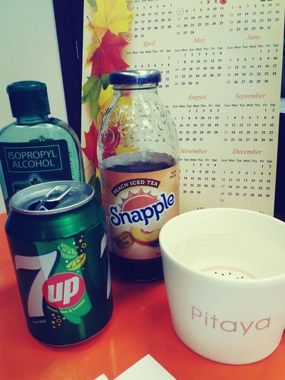 Want some drinks? Summerisback Hydrateyourself Pitayacup 7up Snapple! Snapple Tea Peach First Eyeem Photo