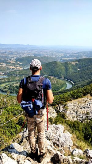 One Person Front View One Man Only Only Men People Adult Adults Only Standing Men Day Outdoors One Young Man Only Young Adult Headwear Portrait Sport Real People Sky Nature Mountains Beauty In Nature Serbia Hiker Hiking Backpack