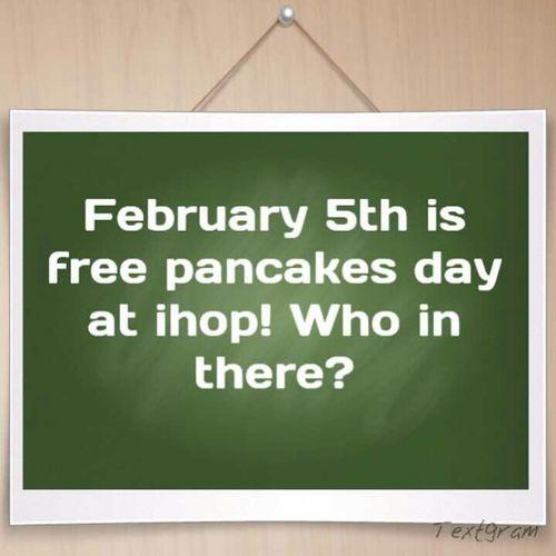 Free Pancake Day