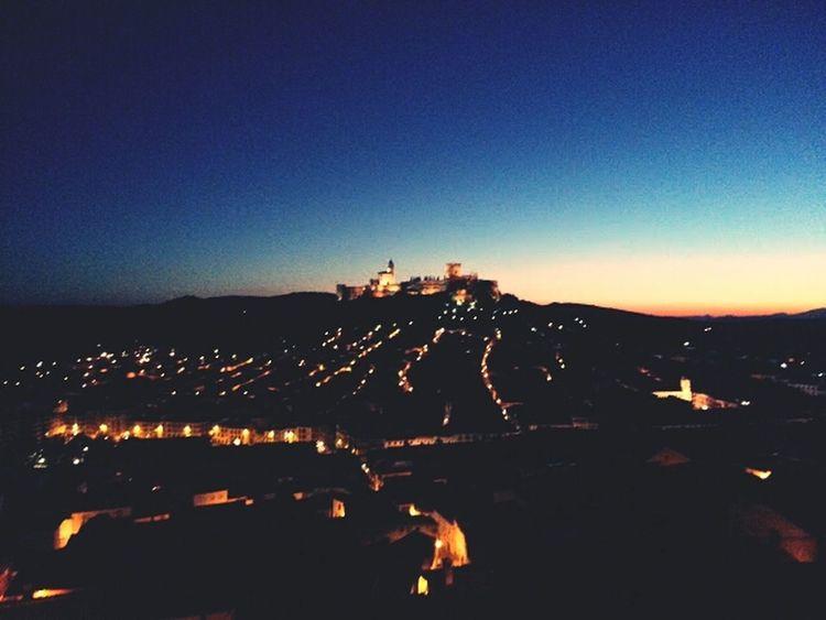La Mota's Castle and my town. My Best Photo 2014 Night Lights Castle Nocturne
