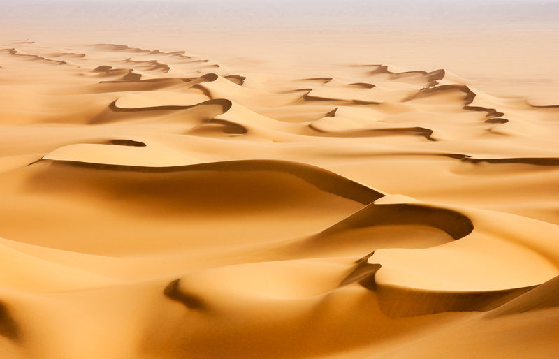 Sahara Desert Sand Dune Arid Climate Beauty In Nature High Angle View Natural Pattern Structure Sand Curves Shadow Sahara Pattern Scenics - Nature Tranquility Nature No People