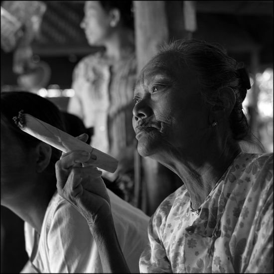 Myanmar Spliff Village Life Portrait Monochrome The Human Condition Reefer Madness The Photojournalist - 2015 EyeEm Awards