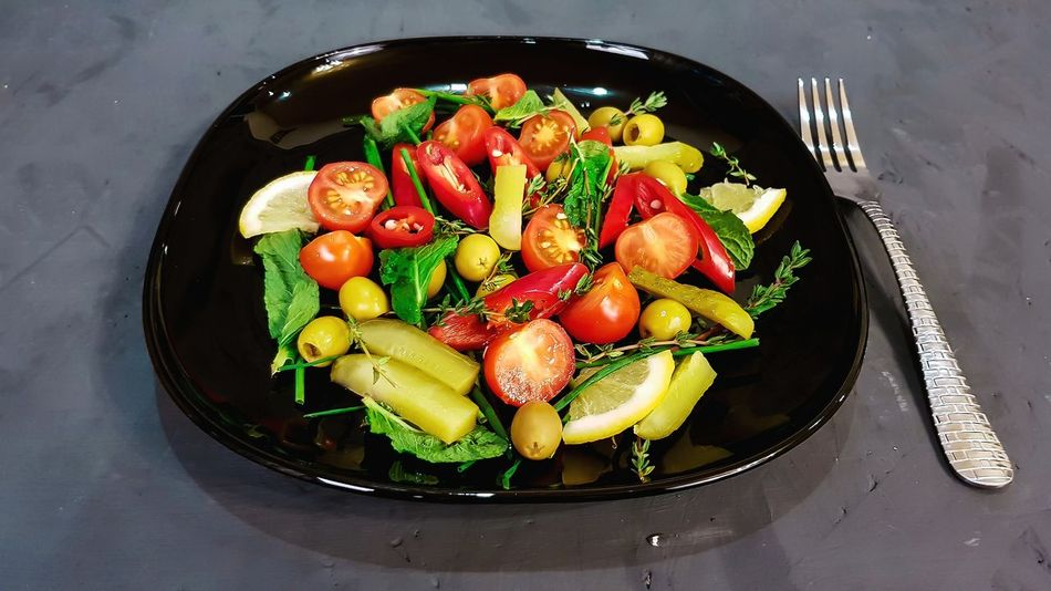 Salad Dieta Tomato Fruit Healthy Eating Indoors  Freshness Food And Drink No People Food